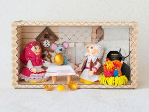 Кукольный театр  «Курочка Ряба». Ярмарка Мастеров - ручная работа, handmade.