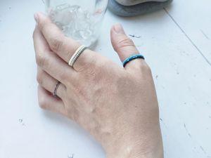 Бисерные кольца — тренд этого лета!. Ярмарка Мастеров - ручная работа, handmade.