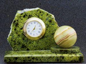 Часы из природного камня. Ярмарка Мастеров - ручная работа, handmade.