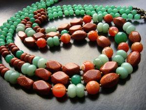 Последние два дня скидок на многорядные украшения из камня!. Ярмарка Мастеров - ручная работа, handmade.