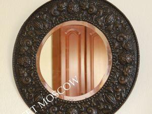 РАРИТЕТИЩЕ Антикварное зеркало в раме латунь Бельгия 2. Ярмарка Мастеров - ручная работа, handmade.