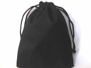 Поступление черных мешочков: бархатные и эко-кожа, 7х9 см и 9х12 см. Ярмарка Мастеров - ручная работа, handmade.
