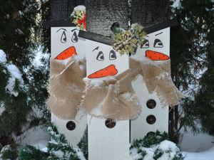 «Зимние друзья»: новогодний декор из подручных средств. Ярмарка Мастеров - ручная работа, handmade.
