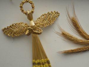 Ангел из соломки. Ярмарка Мастеров - ручная работа, handmade.