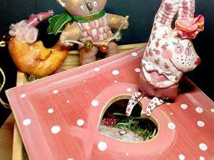 Фотоотчёт заказа. Новогодний короб с забавными игрушками. Ярмарка Мастеров - ручная работа, handmade.