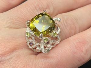Кольцо с лимонным кварцем серебряное. Ярмарка Мастеров - ручная работа, handmade.