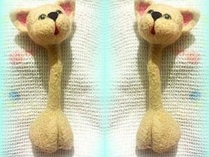 """Мастер-класс по сухому валянию: делаем игрушку """"Влюбленные коты"""". Часть I. Ярмарка Мастеров - ручная работа, handmade."""