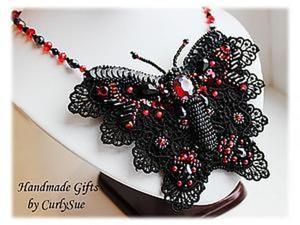 """Создание трансформера: колье-брошь-заколка """"Papilio Rumanzovia"""". Ярмарка Мастеров - ручная работа, handmade."""
