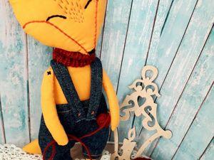 Игрушка  «Лисёнок». Ярмарка Мастеров - ручная работа, handmade.