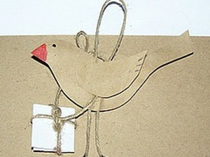 Бирочка «Птичка». Ярмарка Мастеров - ручная работа, handmade.