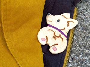 Делаем брошку «Пряничная собака» из формочек для печенья. Ярмарка Мастеров - ручная работа, handmade.