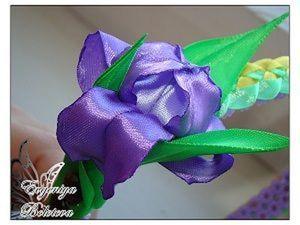 Цветок ириса из лент. Ярмарка Мастеров - ручная работа, handmade.