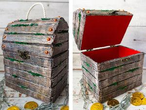 Делаем сундук из картона. Ярмарка Мастеров - ручная работа, handmade.