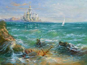 Рисуем вместе морской пейзаж. Видеоурок. Ярмарка Мастеров - ручная работа, handmade.