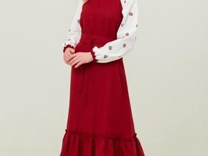 Платье Льняное Алёнушка. Ярмарка Мастеров - ручная работа, handmade.