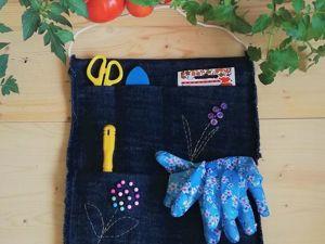 Как за полчаса смастерить из джинсов организатор (кармашки) для дачи. Ярмарка Мастеров - ручная работа, handmade.