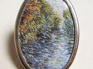 Вышитые броши с пейзажами Ирландии от мастерицы Eveline de Lange. Ярмарка Мастеров - ручная работа, handmade.