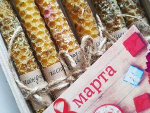 Свечи Подарок на 8 Марта. Ярмарка Мастеров - ручная работа, handmade.