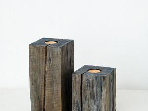 Подсвечники из дерева. Ярмарка Мастеров - ручная работа, handmade.