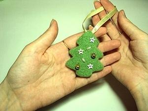 Делаем  симпатичную ёлочку. Ярмарка Мастеров - ручная работа, handmade.