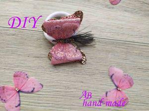 Бантик-бабочка из экокожи. Ярмарка Мастеров - ручная работа, handmade.
