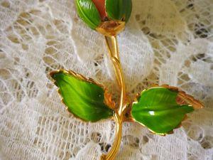 Аукцион: Винтажная брошь  «Драгоценная Роза» , Giovanni, США, 1970е!. Ярмарка Мастеров - ручная работа, handmade.