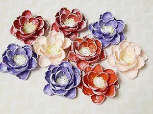 Создаем нежные цветы гортензии из бумаги. Ярмарка Мастеров - ручная работа, handmade.