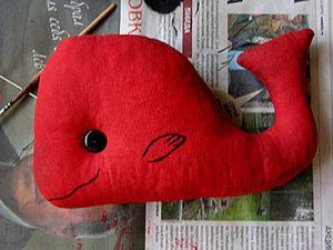 Шьем красного кита. Ярмарка Мастеров - ручная работа, handmade.
