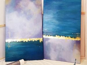 Диптих с морской тематикой. Ярмарка Мастеров - ручная работа, handmade.