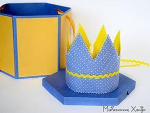 Шляпная коробка для короны. Мастер-класс. Ярмарка Мастеров - ручная работа, handmade.
