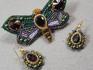 Видео мастер-класс по созданию комплекта «Emerald Butterfly». Ярмарка Мастеров - ручная работа, handmade.