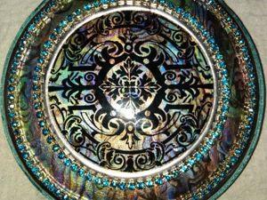 Имитация перламутра. Декоративный подвес(новогодние остатки). Ярмарка Мастеров - ручная работа, handmade.