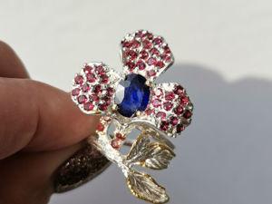 Видео кольца с натуральным сапфиром. Ярмарка Мастеров - ручная работа, handmade.