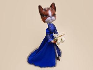 Изготавливаем кошку-куклу на каркасе. Ярмарка Мастеров - ручная работа, handmade.