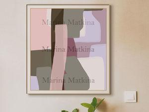 Пример абстракции по эскизу. Ярмарка Мастеров - ручная работа, handmade.