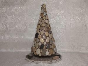 Создаём новогодний декор из природных материалов. Ёлка из камней. Ярмарка Мастеров - ручная работа, handmade.