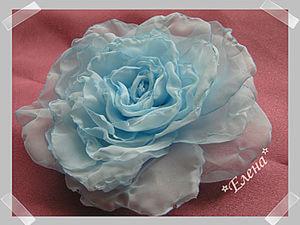 Мягкая Роза из вуали. Цветы из ткани. Цветоделие.. Ярмарка Мастеров - ручная работа, handmade.