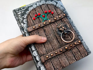 How To Make Wooden Door Imitation On Notebook Cover. Livemaster - handmade
