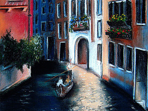 Рисуем Венецию в технике сухая пастель. Ярмарка Мастеров - ручная работа, handmade.