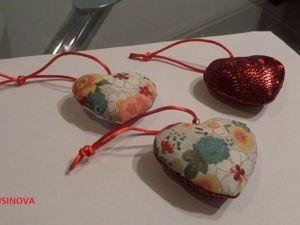 Шьем «Сердечко» — елочное украшение. Ярмарка Мастеров - ручная работа, handmade.