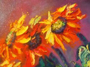 Мастер-класс по интуитивной живописи: пишем яркие цветы. Ярмарка Мастеров - ручная работа, handmade.