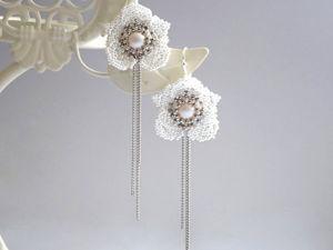 Делаем ажурные серьги из бисера «Орхидея». Ярмарка Мастеров - ручная работа, handmade.