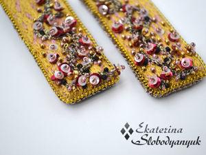 Люневильская вышивка. Золотые серьги. Ярмарка Мастеров - ручная работа, handmade.