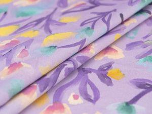 Видео ткани — лиловый летний коттон из Италии. Ярмарка Мастеров - ручная работа, handmade.