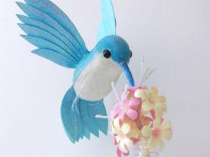 Колибри — ватная птичка. Ярмарка Мастеров - ручная работа, handmade.
