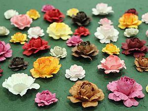 Как сделать розу из бумаги с помощью ложки. Ярмарка Мастеров - ручная работа, handmade.