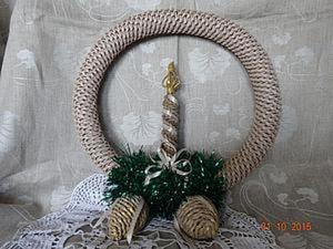 Плетение рождественского венка. Часть 1. Ярмарка Мастеров - ручная работа, handmade.