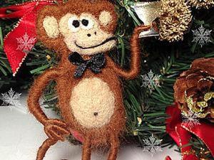 Делаем забавную обезьянку из шерсти. Ярмарка Мастеров - ручная работа, handmade.