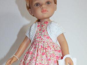 Вяжем болеро для куклы Paola Reina. Ярмарка Мастеров - ручная работа, handmade.