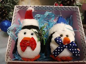 Мастерим ёлочную игрушку «Новогодний пингвин». Ярмарка Мастеров - ручная работа, handmade.